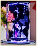 Láser láser de la santa de 2016 en 3D Cristal Cara de Muñeca de la máquina de grabado