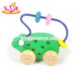 Neues heißestes pädagogisches hölzernes Raupe-Seitentriebs-Spielzeug für Baby W11b173