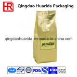 Custom печать угловое соединение обратно запечатанный пластиковый пакет с кофе клапан