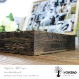 Hongdao ha personalizzato la casella di legno di colore per l'imballaggio del vino con la serratura