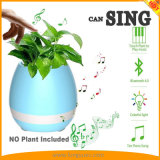 Música do piano da planta do toque que joga o altofalante esperto redondo claro Multi-Color esperto do diodo emissor de luz Bluetooth do Flowerpot