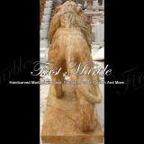 Het gouden Beeldhouwwerk van de Leeuw van het Calcium voor Decoratie ma-490 van de Tuin