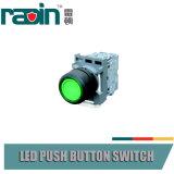Interruptor de pulsador verde rojo principal circular/cuadrado con el piloto
