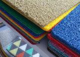 Hoja de caucho antideslizante, PVC Coil Mat con respaldo de espuma