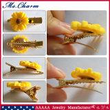 Il Oro-Colore rosso bianco degli accessori dei capelli del metallo del fiore appunta & ferma gli ornamenti con una graffetta
