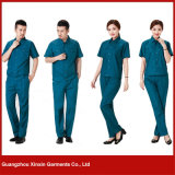Fabrik-preiswertes Arbeits-Hemd-Großhandelskleid (W14)