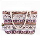 Le sac national de plage de dames de tendance de sac d'épaule de dames de vent de toile neuve de sac