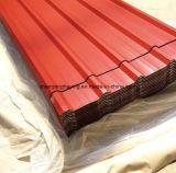 Регулярно горячая окунутая трапецоидальная плитка/гальванизированное стальное /Gi/PPGI настилая крышу для строительного материала