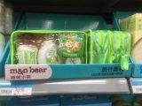 Sac en plastique transparent de crème de bébé de PVC avec la tuyauterie verte