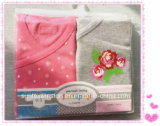 高品質の柔らかい綿の平野の卸売の赤ん坊のロンパースセット