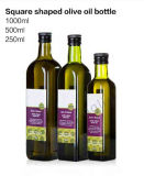 El aceite de oliva 500 ml frasco de vidrio con tapón de madera
