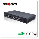Saicom (SCSW-1108P-at) 802.3at 100Mbps 25W 1FX8FE move o interruptor rápido do ponto de entrada do Ethernet
