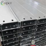 Seção de seção C Tamanhos de aço Peso de aço estrutural