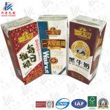 Paquet de briques aseptiques pour le lait et le jus