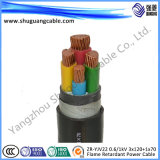 Zr-Yjv22 0.6/1kv 3 x 120 + 1 x 70/BT/ignifuge/câble d'alimentation