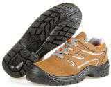 A segurança de couro de Nubuck carreg as sapatas de segurança de aço do dedo do pé