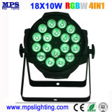 1つのLEDの洗浄ライトに付き屋内フルカラーDMX LEDの同価ライト18X10W RGBW 4つ