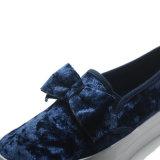 Chaussures occasionnelles d'élève de dames de femmes d'école de qualité de Bowknot de charpie