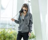 Kühle Frauen-lange Art machen oben hohen Stutzen Hoodie Reißverschluss zu