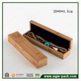 Caixa de jóia de madeira de bambu elegante de Soild