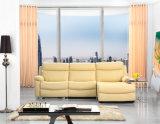 A espreguiçadeira de couro do sofá de Italy para a sala de visitas usou-se