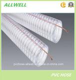 Пластиковый ПВХ Anti-Static стальная проволока гибкие порошок спираль промышленных спиральной пружиной шланг трубопровода