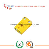 Conector / ficha de termopar macho e fêmea standard IEC para termopar tipo K