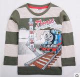 Le nouveau 2014 Commerce extérieur de vêtements pour enfants de la liste originale de l'impression de coton Thomas Locomotive garçons T-Shirt à manches longues