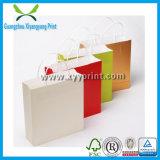 Bolsa de compras de papel de artesanato de baixo custo com impressão de logotipo