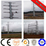 10kv Single Circuit Galvanized Electric Power Pole