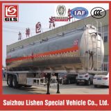 2-Axle 42cbm Aluminum Oil Tank Semi Trailer con 8 Tires