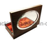 Rectángulo de empaquetado del reloj de madera de lujo de la alta calidad