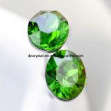 Rhinestone de cristal decorativo da cor verde para acessórios da jóia
