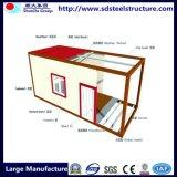 Case prefabbricate pieghevoli del contenitore del mare della struttura d'acciaio