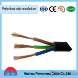 pvc cable plano Cubierta exterior de cable de cobre del cable eléctrico