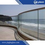 6-12mm dobrados vidro float Vidro Temperado curvo para a construção