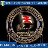 Высокое качество умирают бронзовые позолоченные задача металлических сувенирных монет