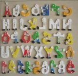 Alphabets & Numbers de madeira com Hand Painting (81461 & 81462)