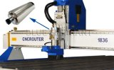 plastic Meubilair die van de Grootte van het Bed van 1800*3600mm het Grote Machine, CNC van de Houtbewerking Router met de Motor van de As van de Hoge snelheid maken
