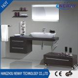 Meubles simples de salle de bains de modèle de bassin de mélamine moderne de mur