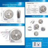 nachladbarer 12.7iinches Tischventilator AC/DC, Speicherbatterie-Ventilator, beweglicher Batterie-Ventilator
