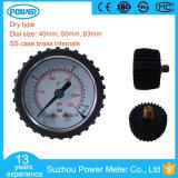 40mm 1.5inch Dial Manomètre Boîtier en acier inoxydable avec couvercle protecteur