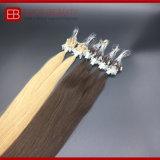 extensão indiana do cabelo do anel do cabelo humano de cor 9A clara micro