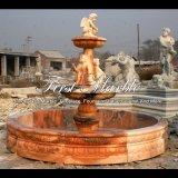 Fontaine de marbre rouge au coucher du soleil pour cadeau Mf-303