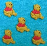 Contrassegno molle del PVC personalizzato orso giallo sveglio caldo di vendita