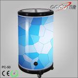 Nuevo enfriador de la taza del refrigerador de la exhibición de la bebida del estilo (PC-50)