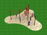 Equipo al aire libre del parque de los niños de la diversión de la gimnasia del patio de la aptitud