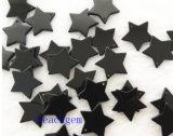 宝石類の部分自然で黒いオニックスの星のビード