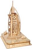 ドバイのホテルの世界アーキテクチャ木のジグソーパズル(BM-506)