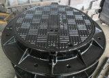Tampas de câmara de visita Ductile do ferro de Une124 D400 com capacidade 40 toneladas